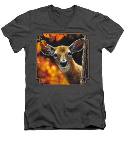 Whitetail Deer - Surprise Men's V-Neck T-Shirt