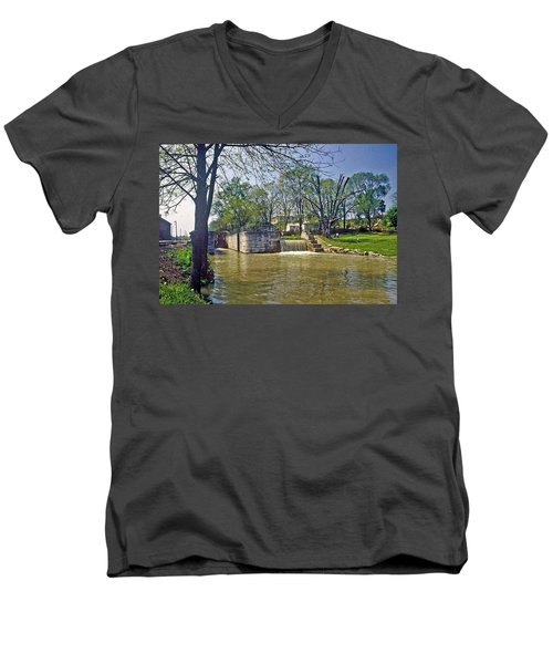 Whitewater Canal Metamora Indiana Men's V-Neck T-Shirt