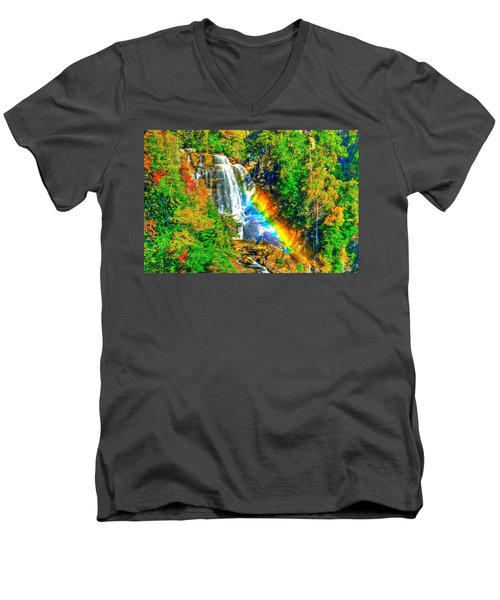 Whitewater Rainbow Men's V-Neck T-Shirt