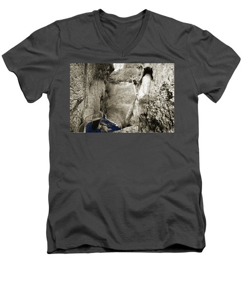 Whitewater Too Blu Men's V-Neck T-Shirt by Jan W Faul