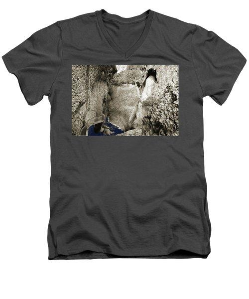 Whitewater Too Blu Men's V-Neck T-Shirt