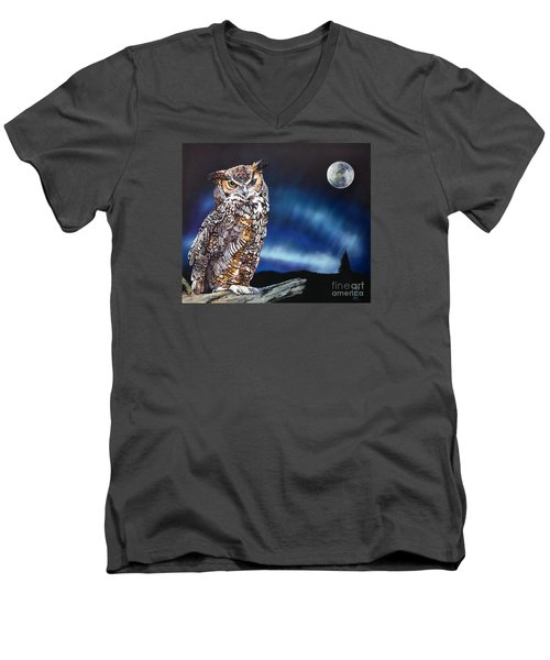 Who Doesn't Love The Night Men's V-Neck T-Shirt by J W Baker