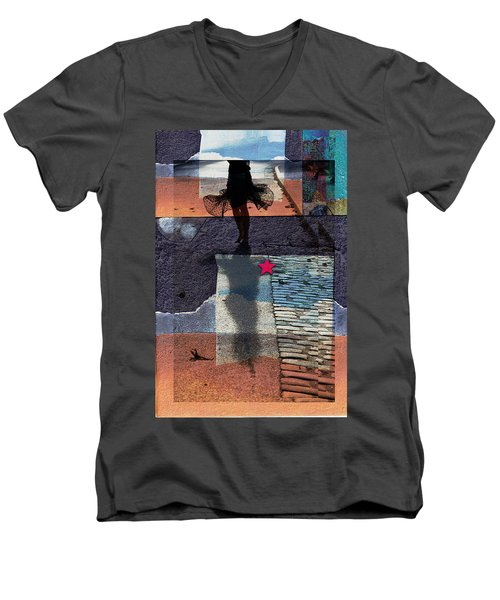 Who Doesn't Stop Till Dawn Men's V-Neck T-Shirt by Danica Radman