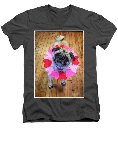 Who Loves Ya Baby Men's V-Neck T-Shirt