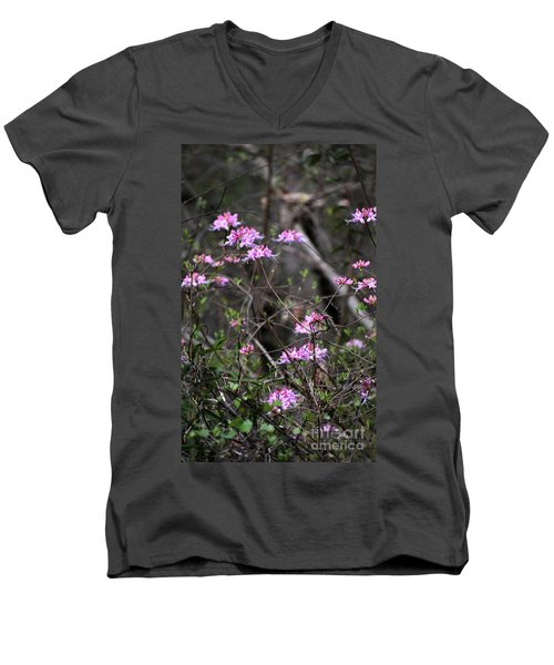 Men's V-Neck T-Shirt featuring the photograph Who Put The Wild In Wildflowers by Skip Willits