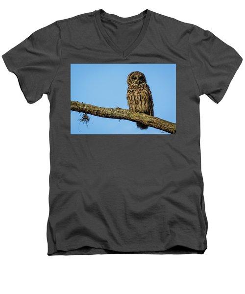 Whooo Men's V-Neck T-Shirt