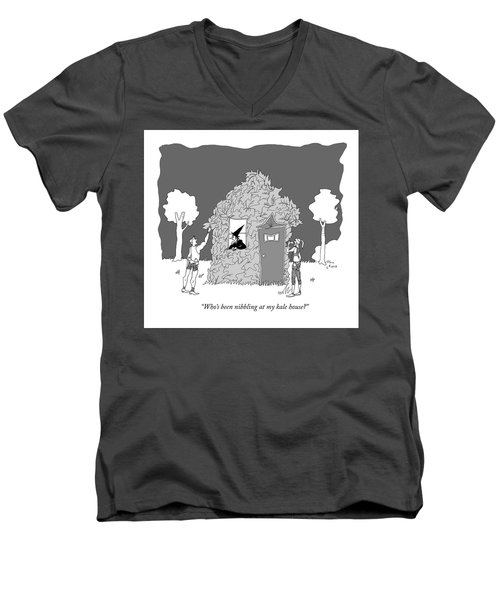 Who's Been Nibbling At My Kale House? Men's V-Neck T-Shirt