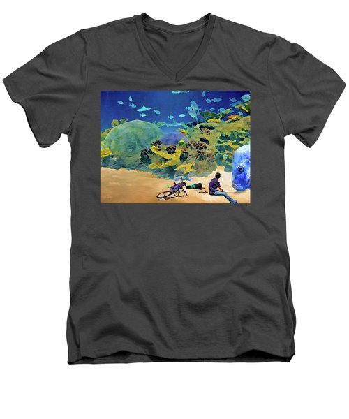 Who's Fishing? Men's V-Neck T-Shirt