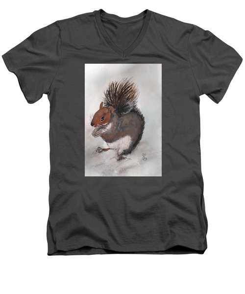 Who's Had Me Nuts Men's V-Neck T-Shirt by Carole Robins