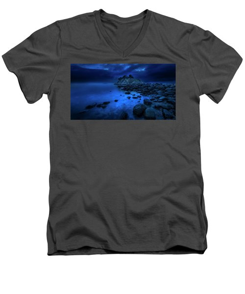 Men's V-Neck T-Shirt featuring the photograph Whytecliff Dusk by John Poon