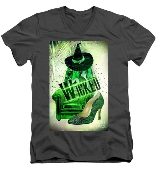 Wicked Men's V-Neck T-Shirt by Mo T