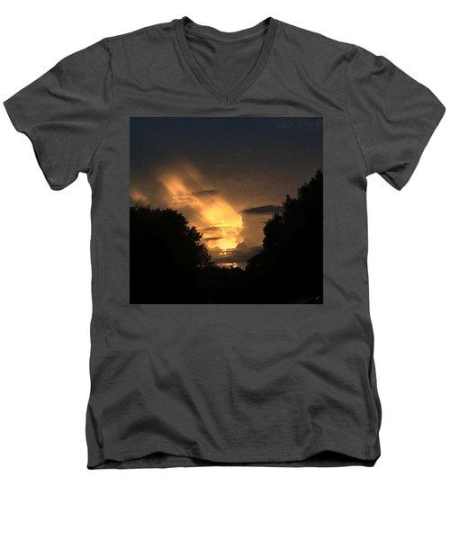Wicked Sky Men's V-Neck T-Shirt by Audrey Robillard