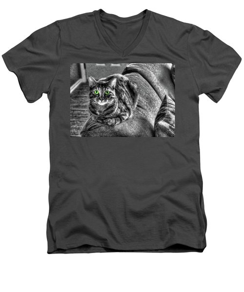 Wide Eyes Men's V-Neck T-Shirt