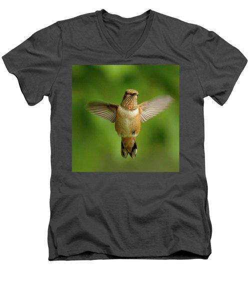 Wide Open Men's V-Neck T-Shirt by Sheldon Bilsker