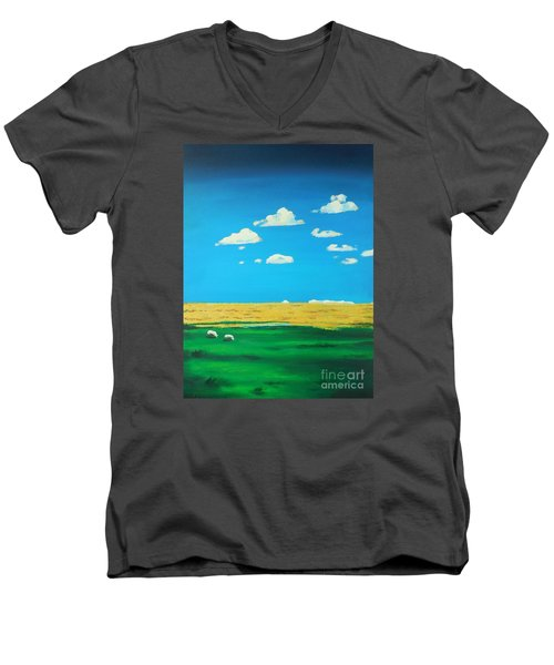 Wide Open Spaces And A Big Blue Sky Men's V-Neck T-Shirt