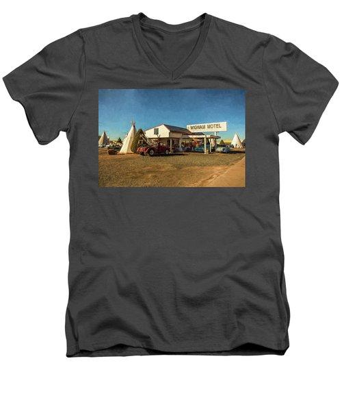 Wigwam Motel Men's V-Neck T-Shirt