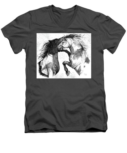 Wild And Free Men's V-Neck T-Shirt by Heidi Kriel