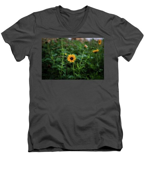 Wild At Hearts And Flowers Men's V-Neck T-Shirt