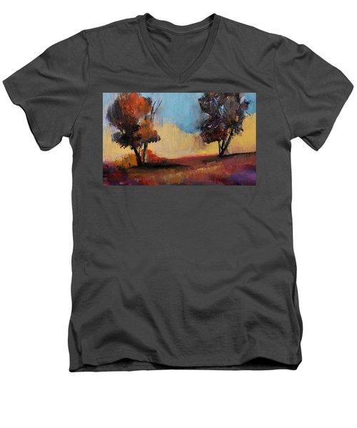 Wild Beautiful Places Trees Landscape Men's V-Neck T-Shirt by Michele Carter