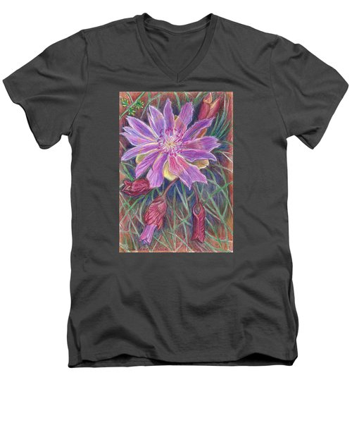 Wild Bitterroot Flower Men's V-Neck T-Shirt