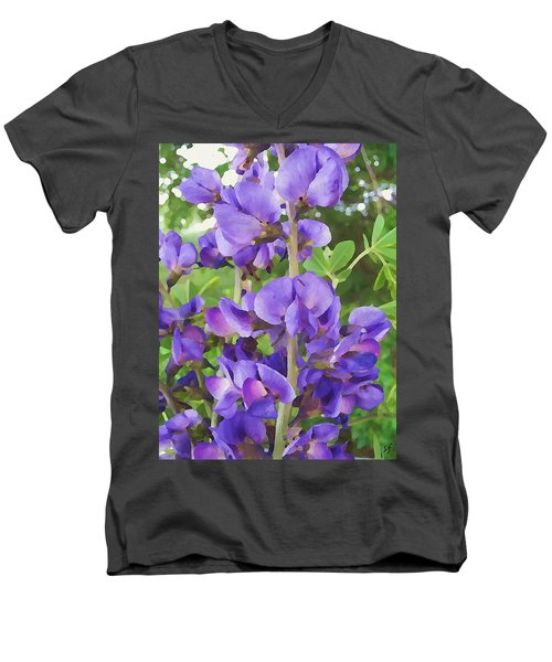 Wild Blue False Indigo Men's V-Neck T-Shirt
