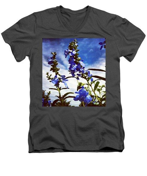 Wild Blue Sage  Men's V-Neck T-Shirt