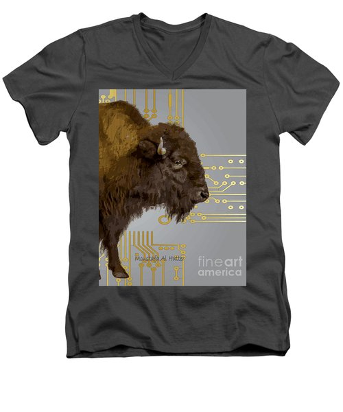 The American Buffalo Men's V-Neck T-Shirt