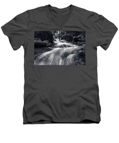 wild creek in Harz, Germany Men's V-Neck T-Shirt by Andreas Levi