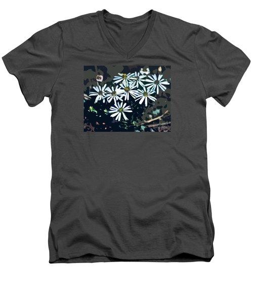 Wild Daisy Art  Men's V-Neck T-Shirt