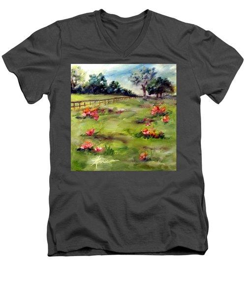 Texas Wild Flower Road Trip  Men's V-Neck T-Shirt