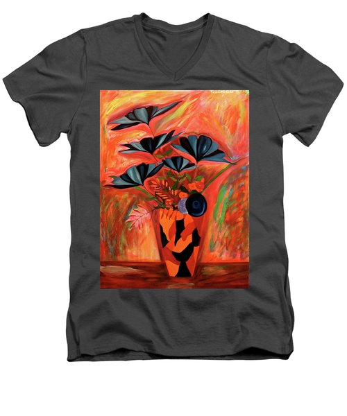 Wild Flowers  A Still Life  Men's V-Neck T-Shirt by Iconic Images Art Gallery David Pucciarelli