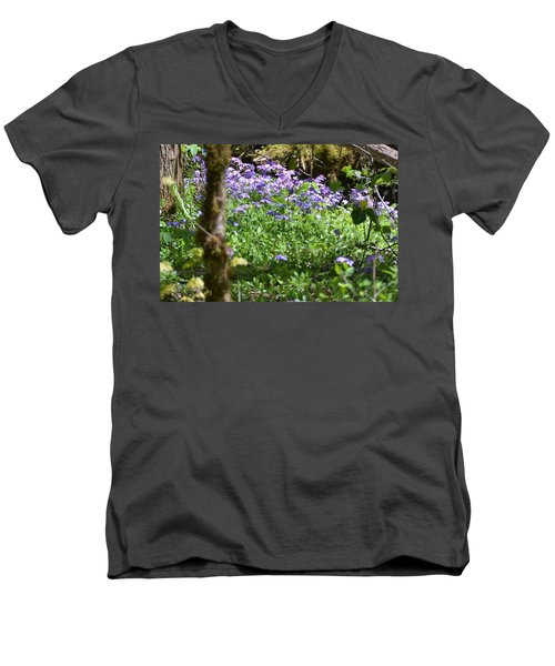 Wild Flowers On A Hike Men's V-Neck T-Shirt