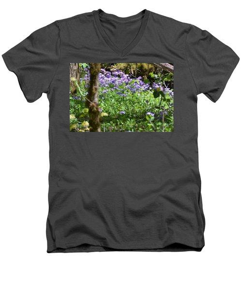 Wild Flowers On A Hike Men's V-Neck T-Shirt