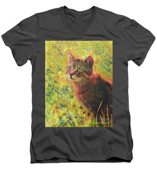 Wild Garden Tabby Men's V-Neck T-Shirt