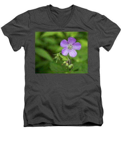 Wild Geranium Men's V-Neck T-Shirt