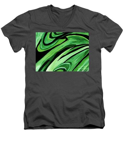 Wild Green Men's V-Neck T-Shirt