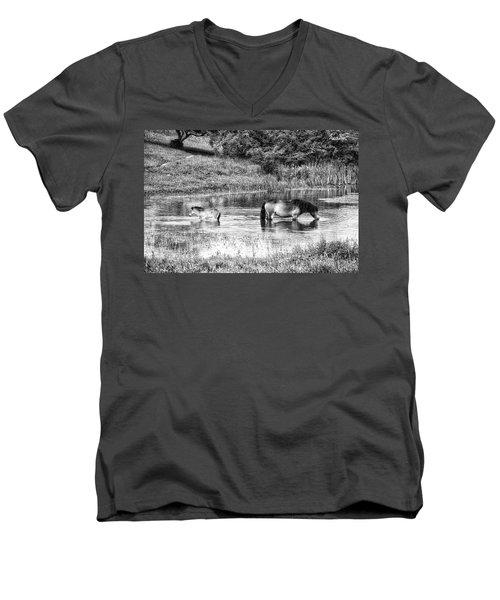 Wild Horses Bw2 Men's V-Neck T-Shirt