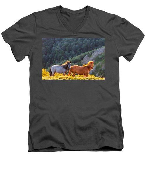 Wild Horses Men's V-Neck T-Shirt