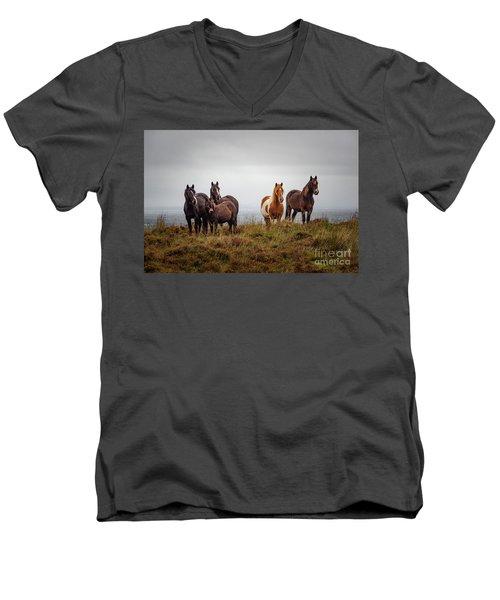Wild Horses In Ireland Men's V-Neck T-Shirt
