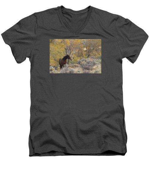 Wild Mustang Horse Men's V-Neck T-Shirt