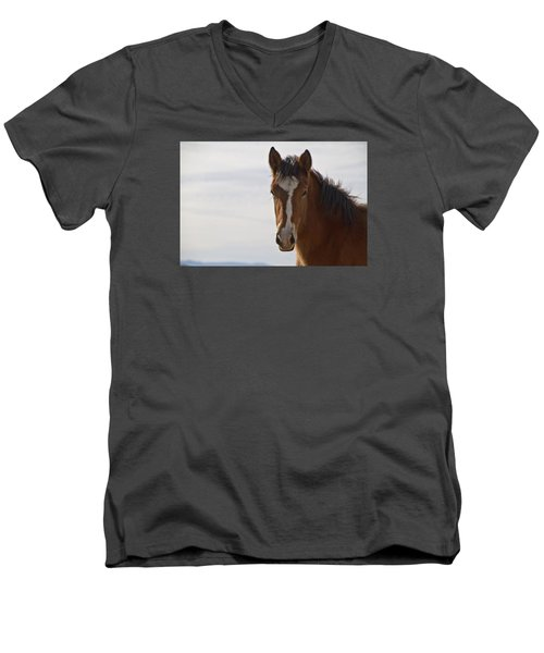 Wild Mustang Yearling Men's V-Neck T-Shirt