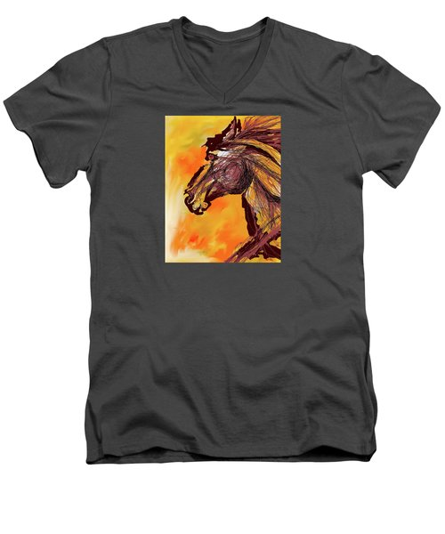 Wild One Men's V-Neck T-Shirt by Mary Armstrong