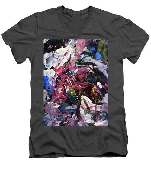 Wild Orchid Abstract Men's V-Neck T-Shirt