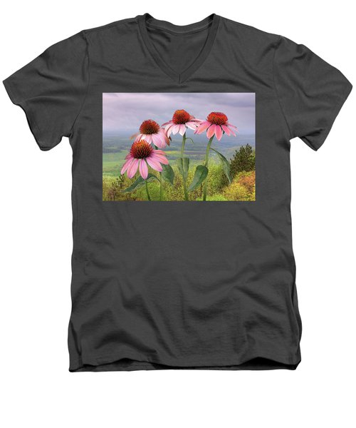 Wild Purple Coneflowers Men's V-Neck T-Shirt