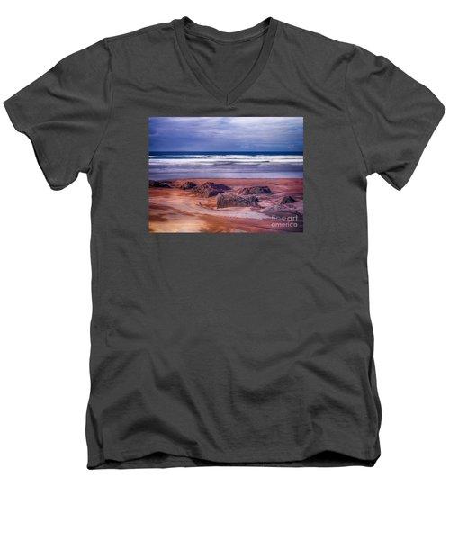 Sand Coast Men's V-Neck T-Shirt by Juergen Klust