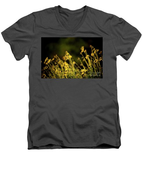 Men's V-Neck T-Shirt featuring the photograph Wild Spring Flowers by Kelly Wade