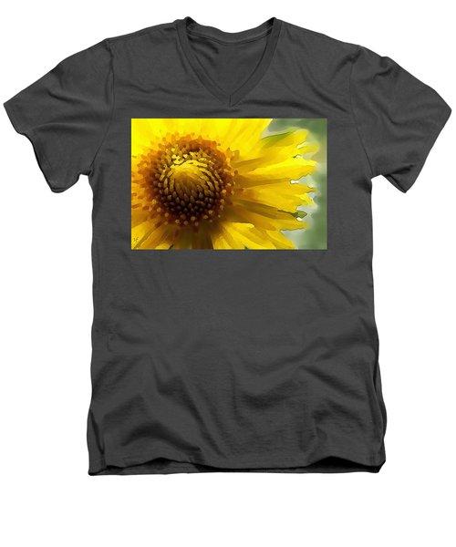 Wild Sunflower Up Close Men's V-Neck T-Shirt