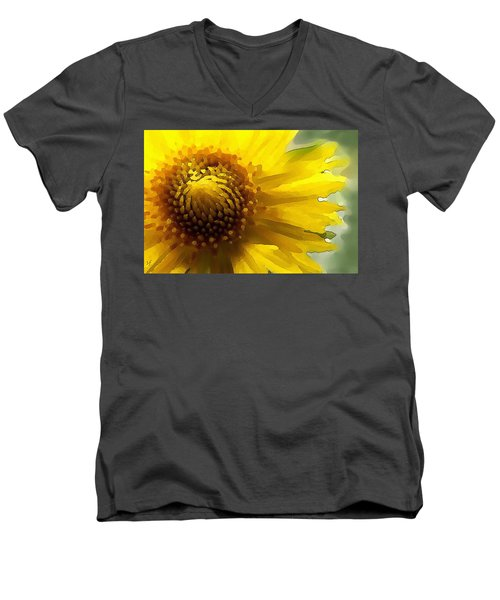 Wild Sunflower Up Close Men's V-Neck T-Shirt