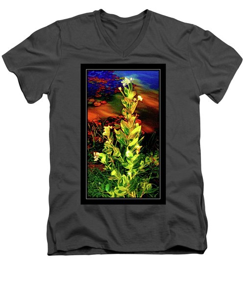 Wild Thai Lake Jasminum - Photo Painting Men's V-Neck T-Shirt by Ian Gledhill