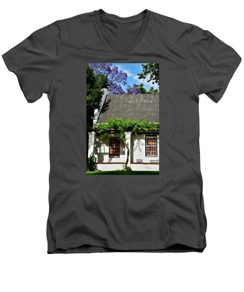 Men's V-Neck T-Shirt featuring the photograph wild Wine by Werner Lehmann